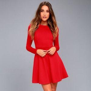 Lulus Forever Chic Long Sleeve Dress